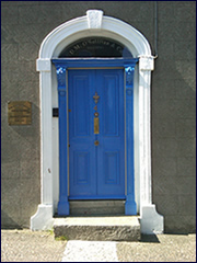 Pic of O'Sullivan Hogan Solicitors front Door, 4 St. Mary's Road, Arklow, Co. Wicklow.